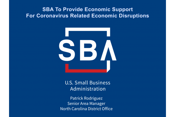 SBA To Provide Economic Support For Coronavirus Related Economic Disruptions